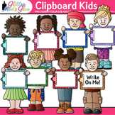 Clipboard Kids Clip Art: Back to School Graphics {Glitter