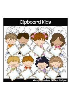 Clipboard Kids Clipart Collection