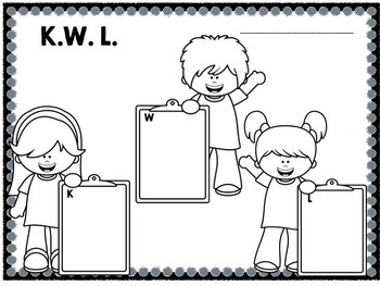 Clipboard Kids KWL FREEBIE