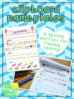 Clipboard Nameplates for flexible seating!