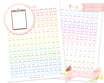 Clipboard Printable Planner Stickers