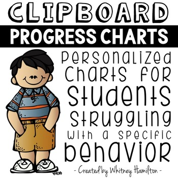 Clipboard Progress Charts: A Behavior Plan