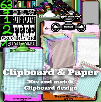 Clipboard & Paper (bundle)