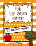 Clipboard Writers: Fall Interactive Writing