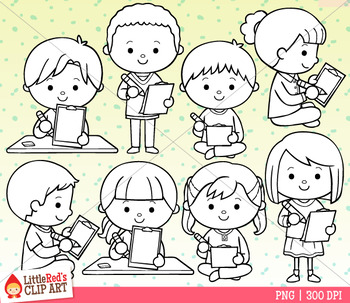 Clipboard Writing Kids Clip Art