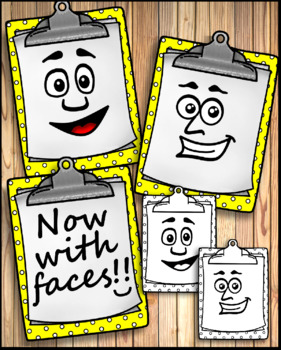 Clipboards Clip Art School Supplies