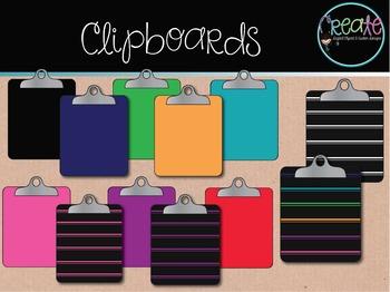 Clipboards - Digital Clipart