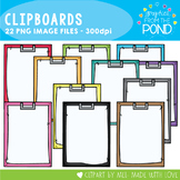 Clipboards Clipart {A Rainbow of Clipboards}