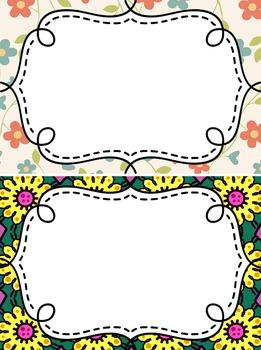 Editable Clipchart for Behavior - 7 Floral Cards - Classroom Management