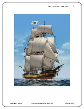 Clipper Ship Art Drawing Lesson and ELA Literacy Circle Reading and Art Lesson