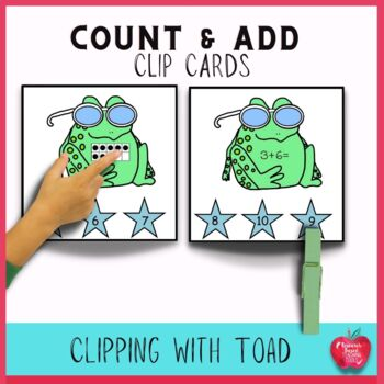 Math Task Cards for Summer: Clippin it With Toad