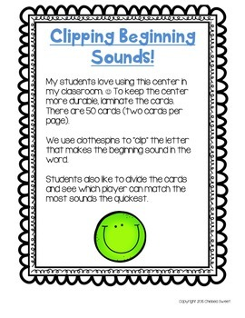 Clipping Beginning Sounds