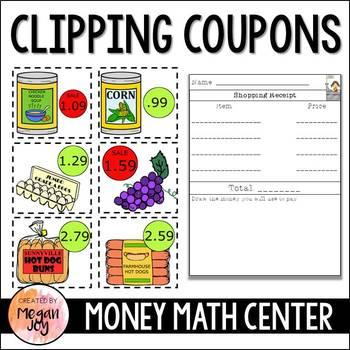 Coupons & Making Change:  Money Math Center