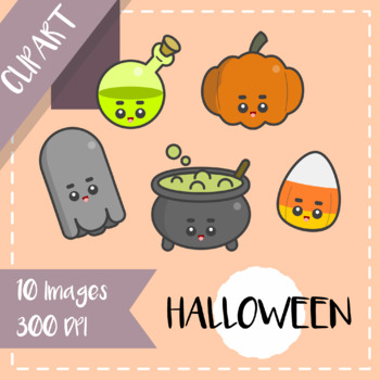 Clips Clipart - Kawaii Style (Halloween Icons) + [Cutouts version]