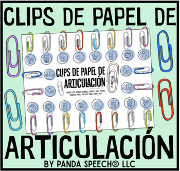 Clips de Papel de Articulación: A speech therapy activity