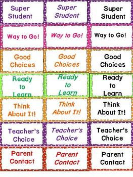 Clip It Behavior Chart