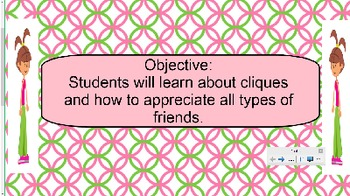 Cliques and Friendship Smart Board Lesson
