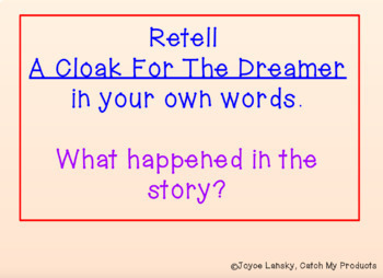 A Cloak for the Dreamer Power Point with Vocabulary for Book Study