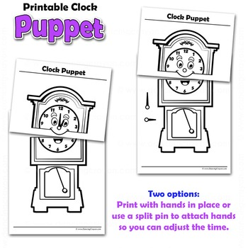 Clock Craft Activity | Paper Bag Puppet