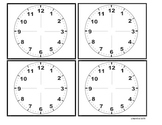 Clock Appointment Cards
