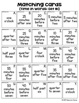 Clock Bingo {Time to the Five Minutes}