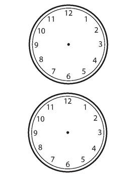Clock Blackline Masters - FREEBIE
