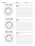 Clock Buddies Note Catcher in Spanish