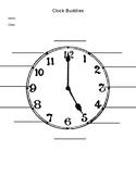 Clock Buddies - Partners Worksheet