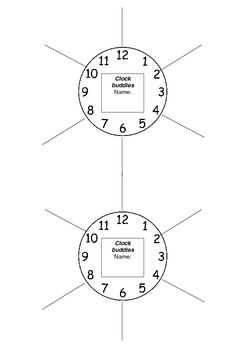 Clock Buddies cooperative learning tool A4 size