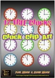Clock Clip Art - 12 FREE Clocks