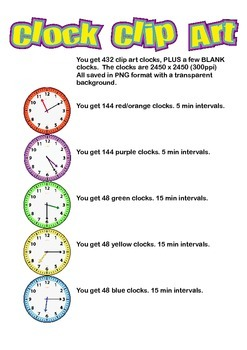 Clock Clip Art - 432 clocks