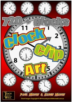 Clock Clip Art - 720 Clocks