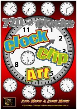 Clock Clip Art - 720 Clocks