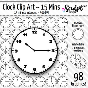 Clock Clip Art ~ Every 15 Minutes