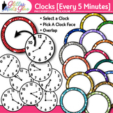 Clock Clip Art Every 5 Minutes   Measurement Tools for Telling Time