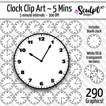 Clock Clip Art - Every 5 Minutes