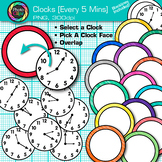 Clock Clip Art Every 5 Minutes {Measurement Tools for Telling Time}