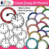 Clock Clip Art Every 60 Minutes {Measurement Tools for Tel