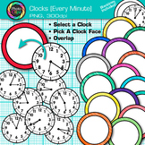 Clock Clip Art Every Minute {Measurement Tools for Telling Time}