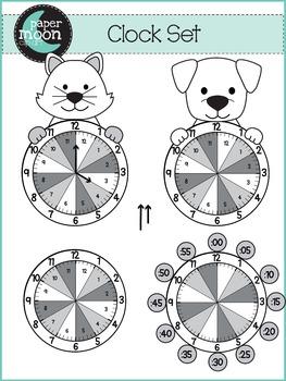 Clock Clip Art - Paper Moon Clip Art