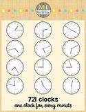 Clock Clip Art - Every Minute