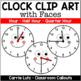 Clock Clip Art with Petal Frames