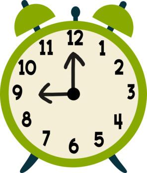 Clock Clipart - 13 total - 300 dpi