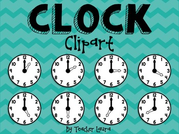 clock clipart by teacher laura teachers pay teachers rh teacherspayteachers com Clock for Telling Time Clip Art Clock for Telling Time Clip Art