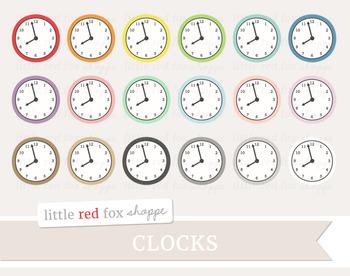 Clock Clipart; Wall Clock, Decor, Household