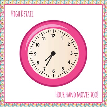 Clock colorful. Clipart images colors every