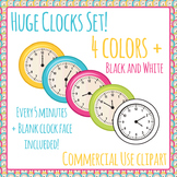 Clock Clipart - 726 images - 5 Colors, Every 5 Minutes Cli