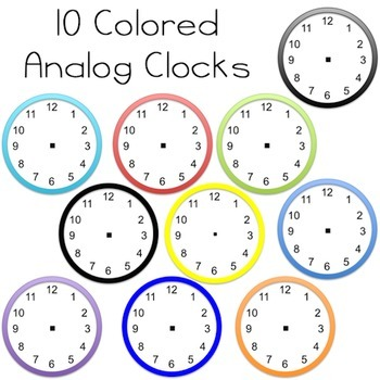 Clock Clipart - Analog, Digital, Clock Parts, :00, :15, :30, :45 for Every Hour!