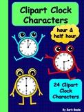 Clock Clipart Characters