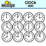 Clock Clipart - Hours Interval
